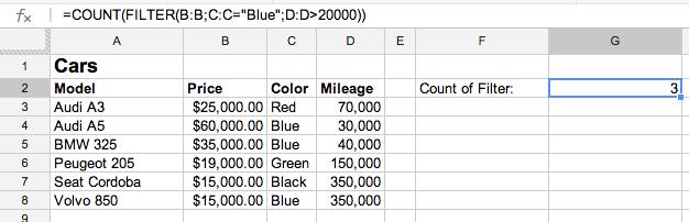 COUNTIFS in Google Spreadsheet