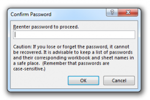 Confrirm Password Pop-up