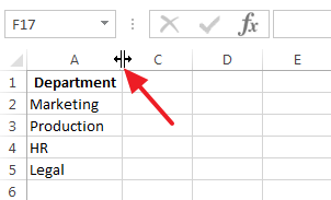 Double click the space between the column header to unhide column B