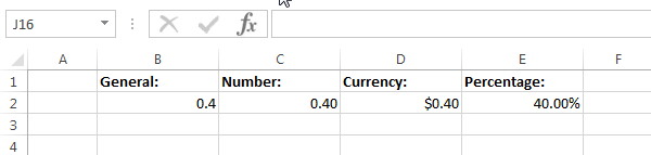 Formatting the same number different ways