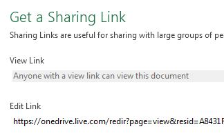 Get a link to your file that you can share with other