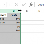 Select and drag multiple columns to resize them proportionally