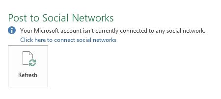 Setting up a social network with your Microsoft account
