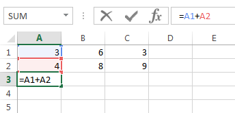 You want the same formula in cell B3 and C3 quickly