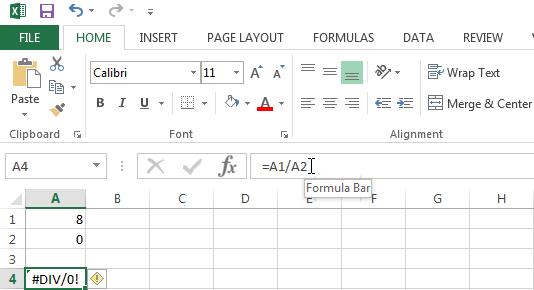 #DIV/0! Error in Excel