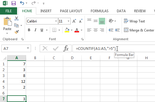 Use the COUNTIF function to count cells based on a specific criteria
