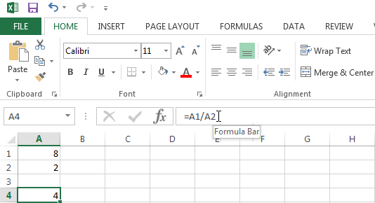 Fix the #DIV/0! Error by replacing the cell containing the zero in the function