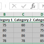 How to find differences in a row or column in Excel