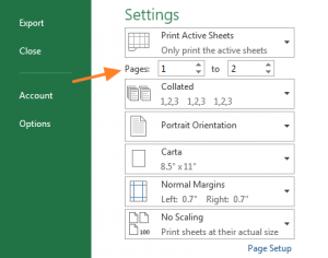 Manually select which pages to print under Settings