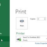 Printing in Excel