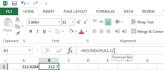 Use the ROUNDUP function to always round a number up away from zero