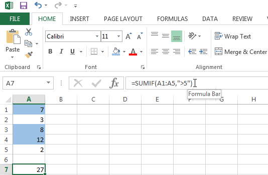 Use the SUMIF function to add values based on one criteria