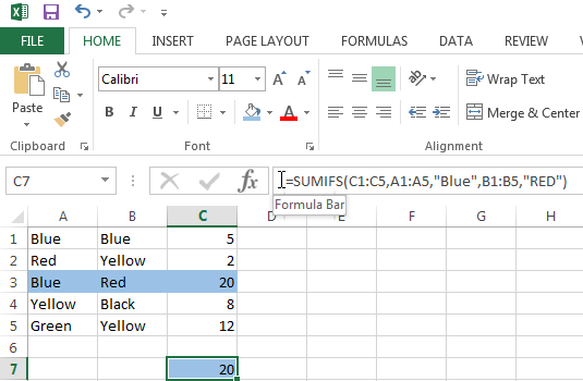 Use the SUMIFS function to sum cells based on multiple criteria